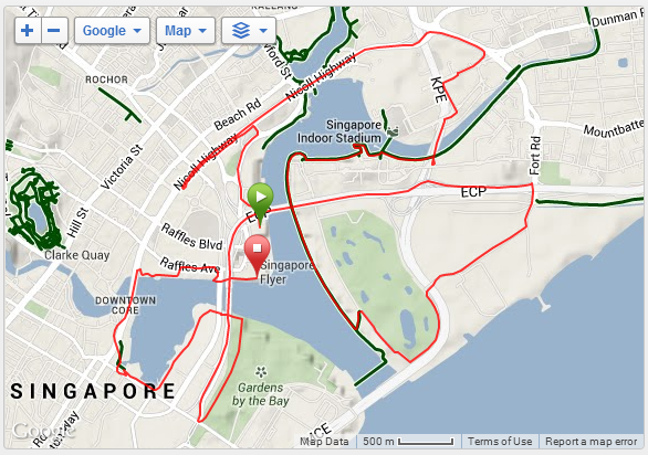 Sundown Half Marathon 2014 Course